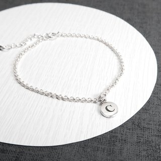 Simple Round Draped 925 Sterling Silver Customized Lettering Bracelet