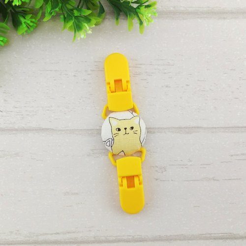 Milk tea cat. Handkerchief clip / universal clip / toy clip / double head clip