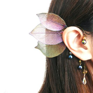 Swarovski and Leaf Fairy Earhook
