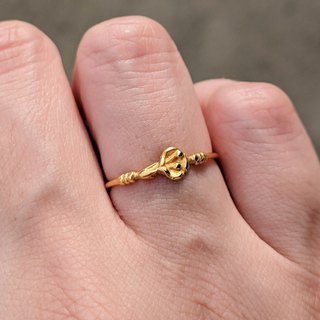 Vintage Gold-plated Ring from Paris
