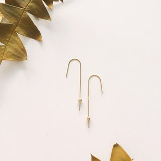 Brass Small Gold Ball Earrings