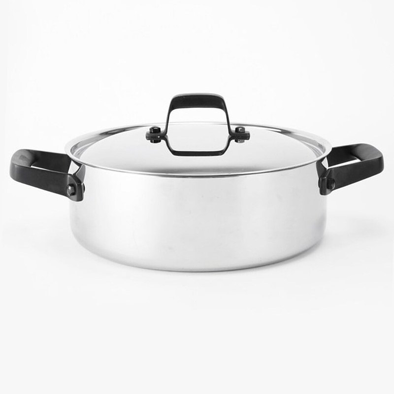 HOLA 316複合不鏽鋼雙耳湯火鍋26cm