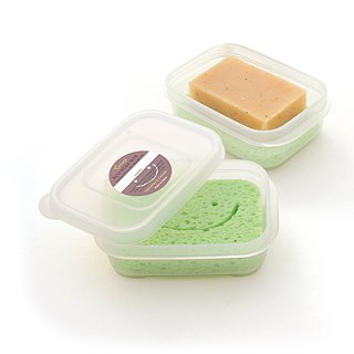 [Travel companion] airtight waterproof sponge soap box (cedar color)