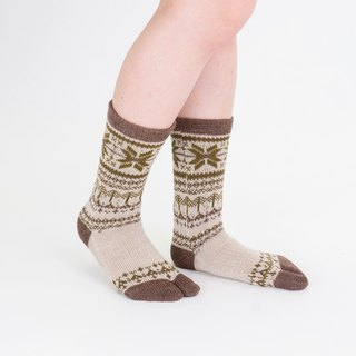 Lumi pattern toe socks