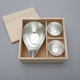Pure tin plate mouth 盅 (L) + pure tin wine cup 2 into the group