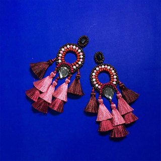 earrings : boho chic x2nd pink l wine