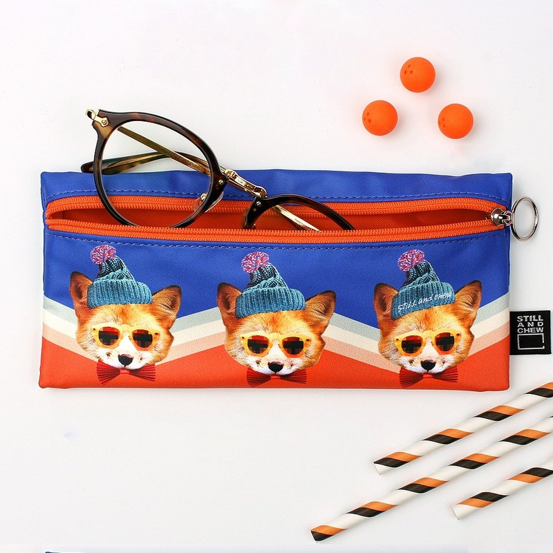 STILL AND CHEW Fashion Animals Pencil Box / Pencil Case - GENTLE FOX