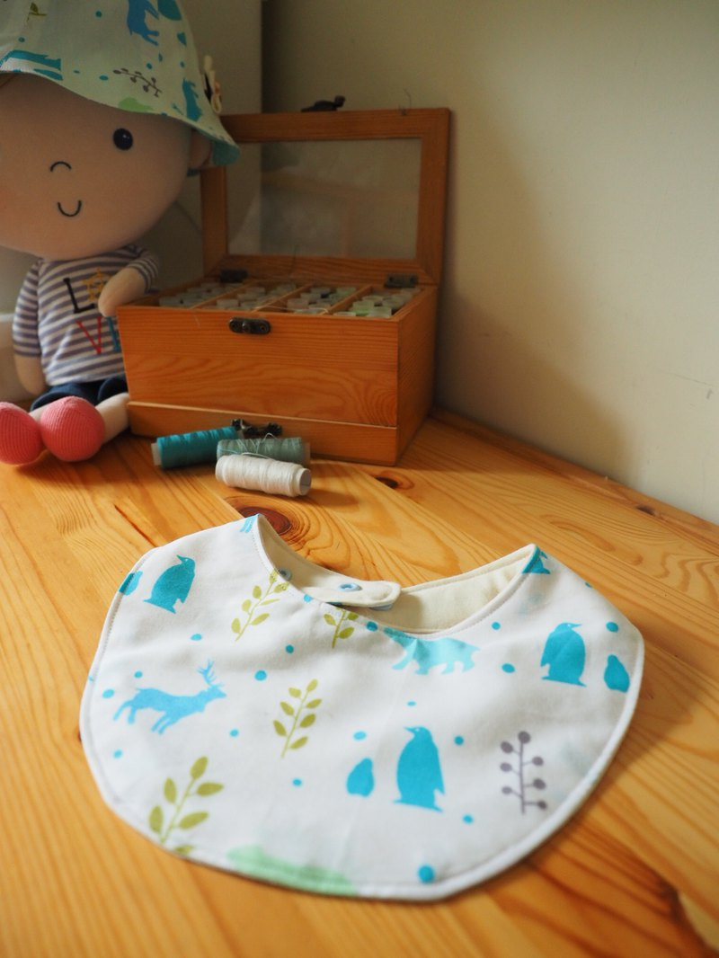 Handmade sewing baby kid cotton bib