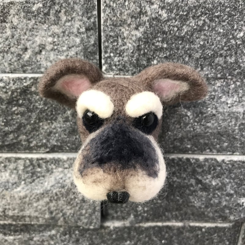 Schnauzer __ wool felt key ring