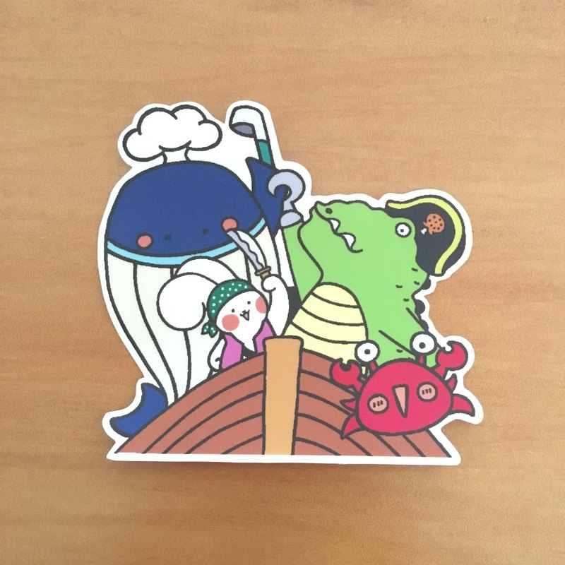 Bart Rabbit and Fei Xulong Series Medium Waterproof Sticker SM0051