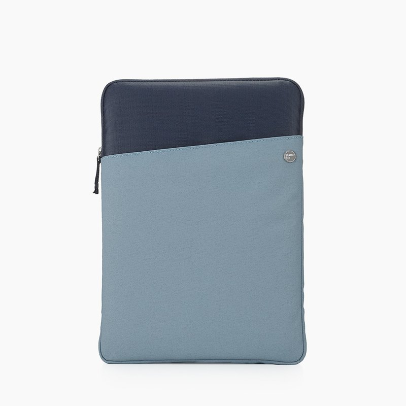 Retro Macbook 15.4吋Light Canvas Pen Protection Bag - Knight Blue