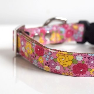 Pink Floral Dog Collar - Small