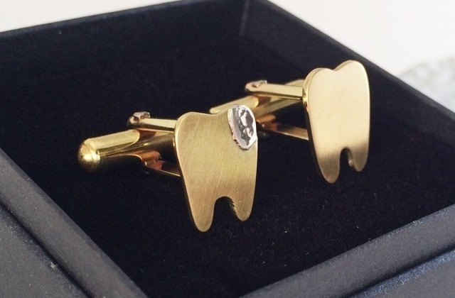 Good Tooth & Bad Tooth ◇ brass cuffs