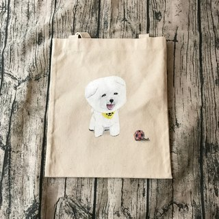 Hand-painted canvas hair child shoulder bag