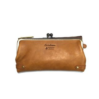 Long wallet slim long leather leather unisex Italian leather