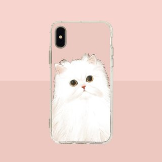 Big face Persian cat embossed air shell - iPhone / Samsung, HTC.OPPO.ASUS pet phone case