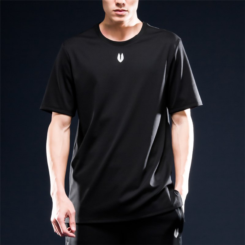 Origin Airness InstaDRY Hollow Instant Dry Functional T-Shirt - 1/3 Sleeve - Black