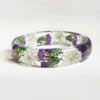 Flower said [simple lace series] star flower real flower bracelet, purple series, dry flower eternal flower