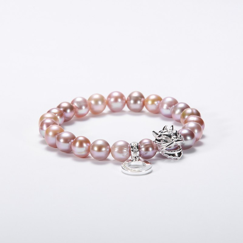 Chinese-style lion dance 925 silver pearl bracelet | Fresh water Color PEARL