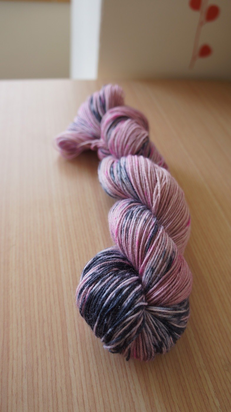 Hand dyed the line. Sad Romance (BFL)