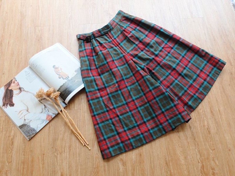Vintage under / Winter wool wide pants no.90