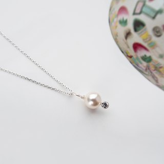 Kamcheng Sweet Series | Swarovski Crystal Pearl 925 Silver Necklace