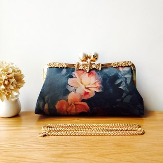 Dinner bag hand bag oblique cross hand hand bag gold handbag