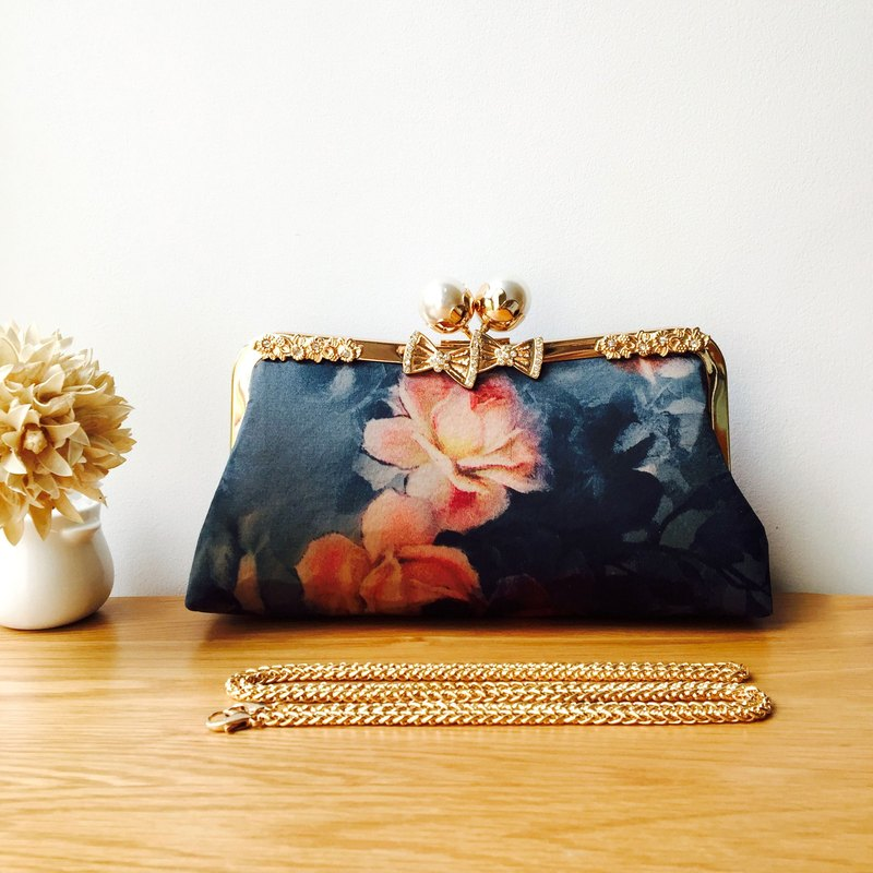 Evening bag Clutch bag Diagonal bag Handmade gold bag Hand bag