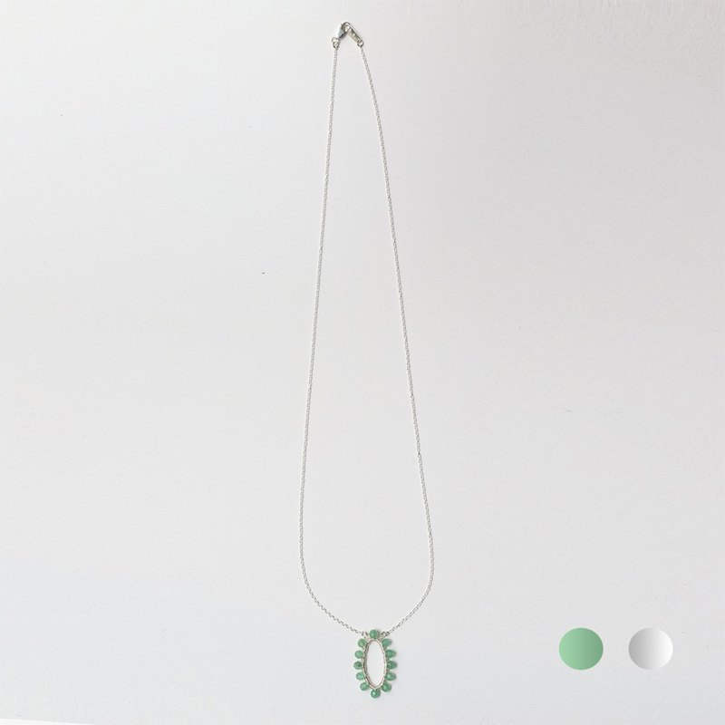 Collection memories. New leaf necklace Memory / silver / two models