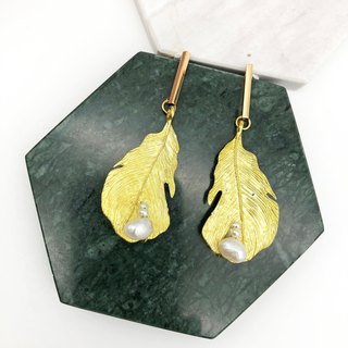 Minimalism - 925 Silver Gold Plated Earrings XI