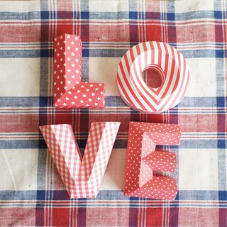 Wedding Decoration / wedding props / LOVE / three-dimensional character / small section / subsection Red