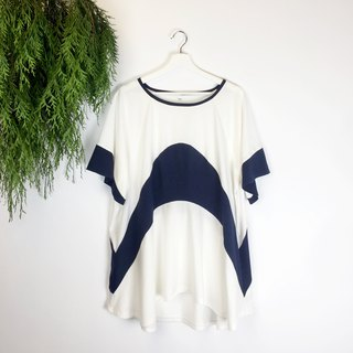Wide stitching long shirt
