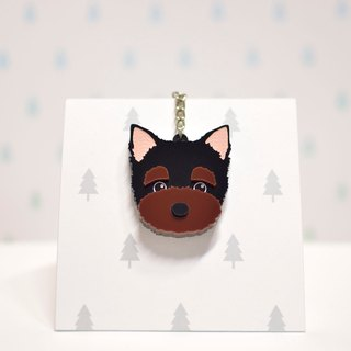 Yorkshire - Keyring - Pet Accessories - Pet Charm - Hairy Kids - Gifts - Custom - Acrylic - BU