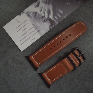 Apple Applewatch manual strap Italian imported brown leather handmade leather design customized