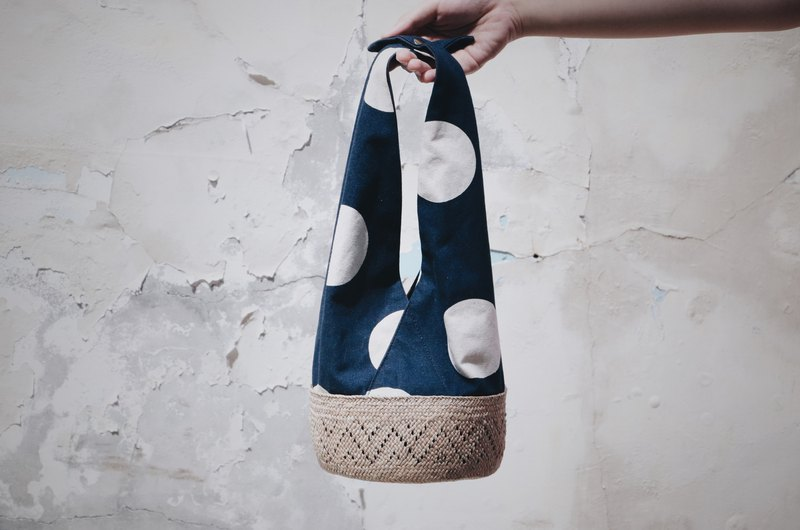 Polka dot towel bag