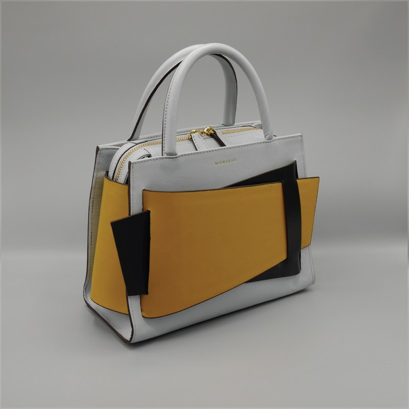 Obi Handbag in Blue Grey with Special Colours Flaps