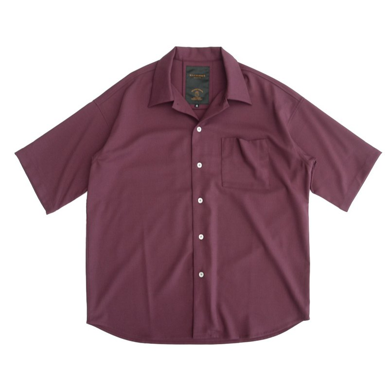 Loose-fitting Cuban collar short-sleeved shirt