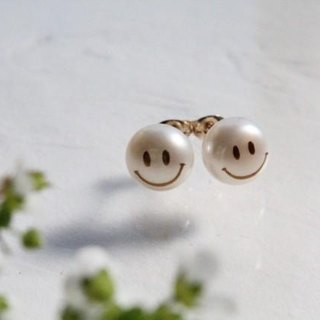 MAKIE Pearl Earrings <SMILE>