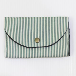 S, HU - Second Edition Small Block Multi-layer Coin Purse (Blue Stripe)