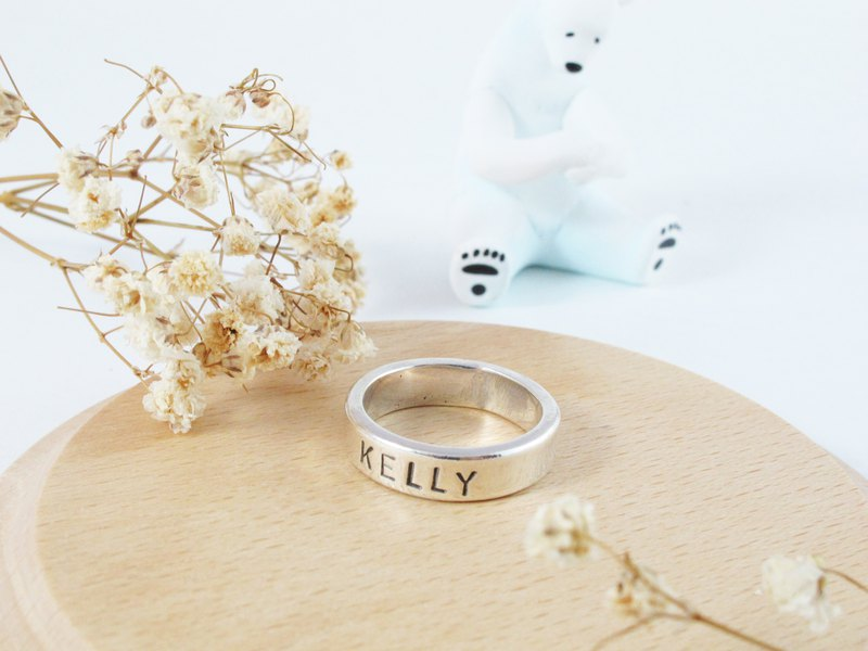 Modeling Series Your Name in Sterling Silver Ring - Inlove