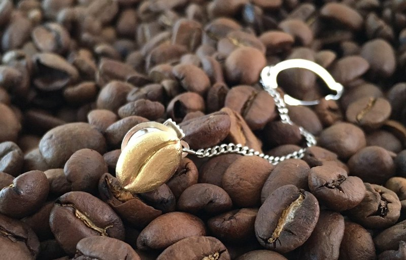 Coffee beans ◇ Brass Tie Tack