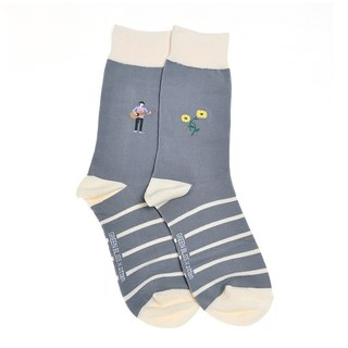 GREEN BLISS Organic Cotton Socks - [Joint Series] ZITTEN Sunflower Guitarist with sunflower stockings (male / female)