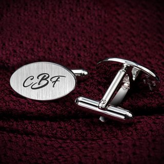 Initials Cufflinks - Personalized Cufflinks engraved with initials