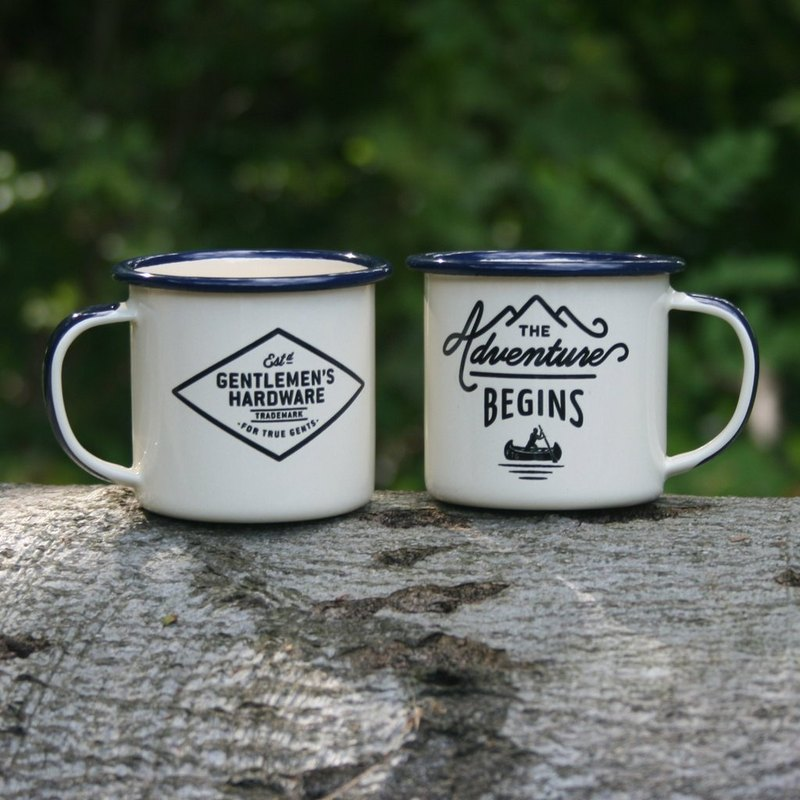英國Wild & Wolf冒險開始琺瑯濃縮咖啡杯組EspressoSet(一組二入)