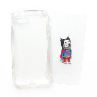 Superman dog - mobile phone case / anti-drop / air pressure shell / customizable handwriting + plus words