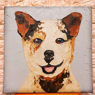 Custom pet portrait painting knife