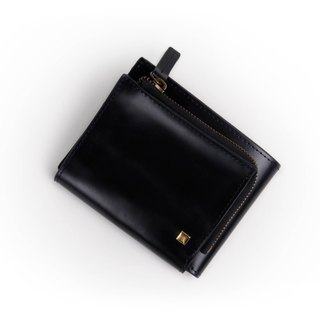 BLACK pouch with bear design - L-angle zipper