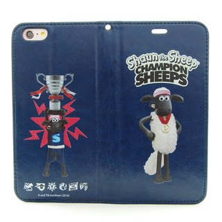 "Smiled sheep genuine authority (Shaun The Sheep) - Magnetic phone holster (dark blue): [] Front of the Class ""iPhone / Samsung / HTC / ASUS / Sony"""