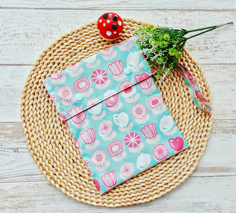 [waterproof storage bag] green bottom flower