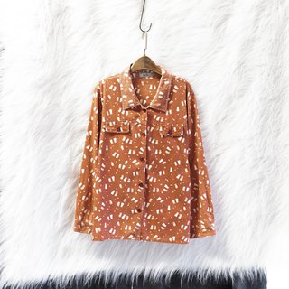 Big skin orange childlike totem autumn and winter log antique cotton shirt jacket coat vintage